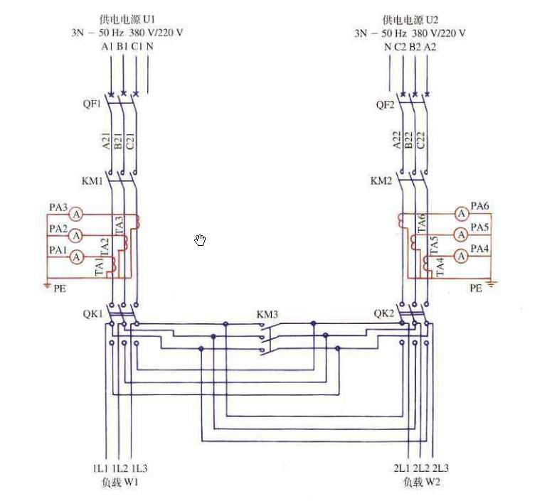 两个排污泵自动切换控制原理