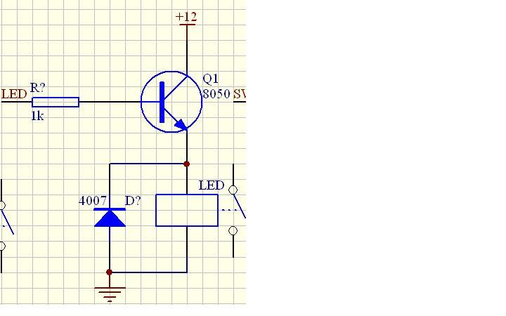 8050做开关管的 时候带不 动12v的继电器?在b级加5v电压继电器不吸合?