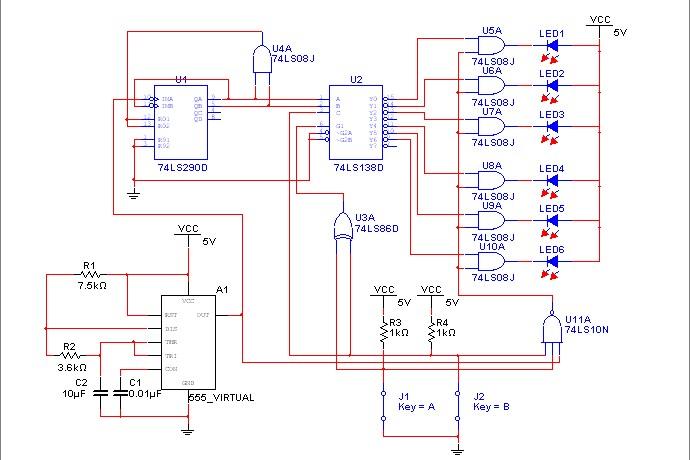 汽车尾灯设计的电路图啊设计构成一个控制汽车六个尾灯的电路,用六个