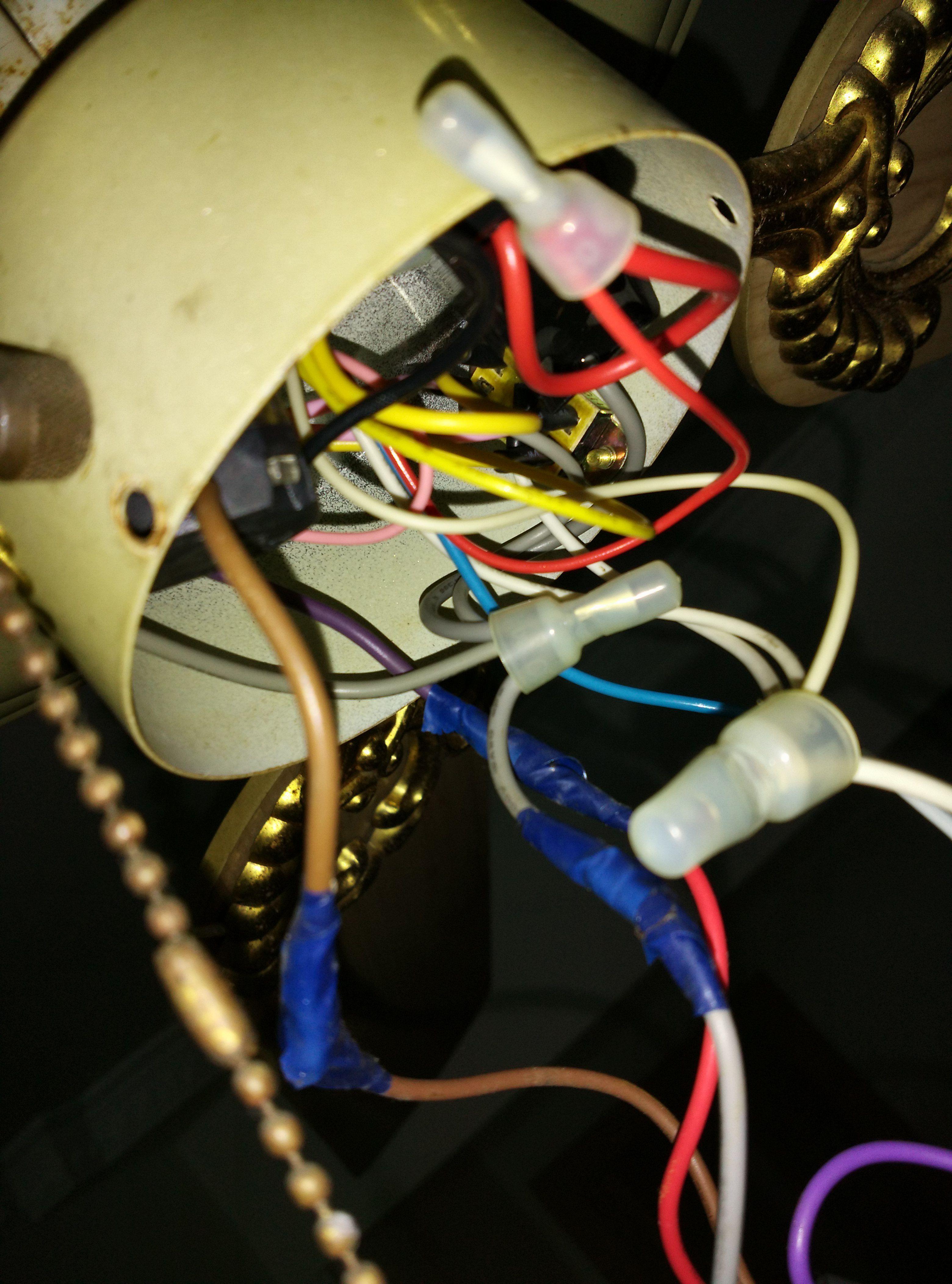风扇灯三线电容改为二线电容如何接线