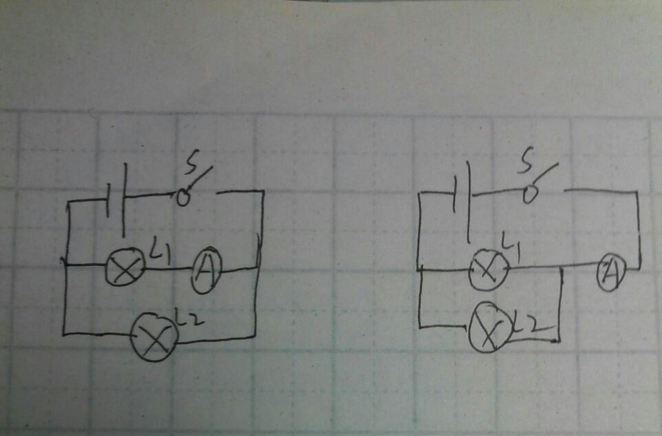 画出两个正确电路图采纳.