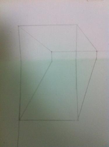 照着网上的教程画立体画,为什么折起来不是正方体图片