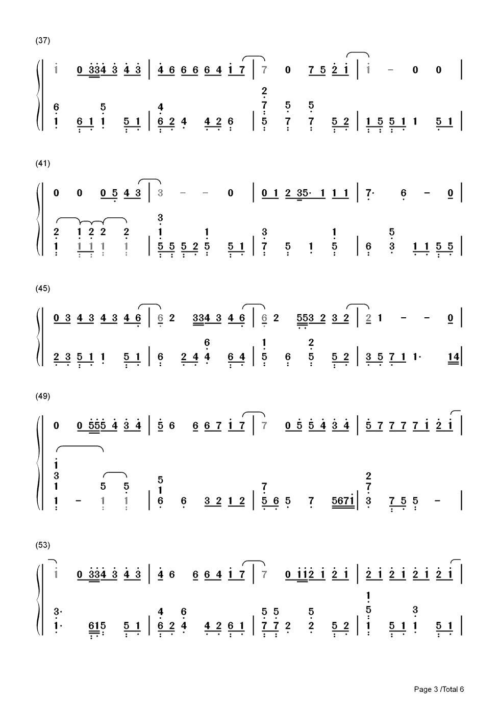 演员钢琴简谱数字版