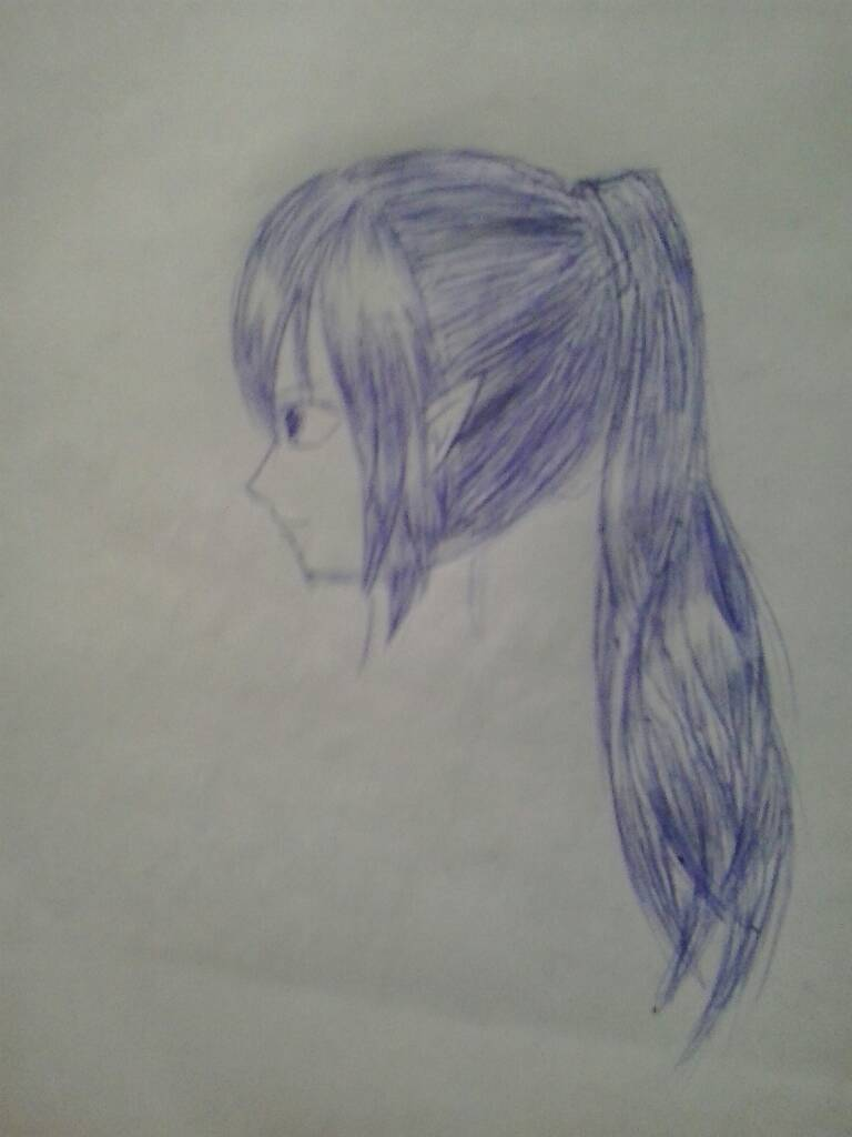手绘动漫人物的头发怎么画高光,是我的话直接全部涂黑