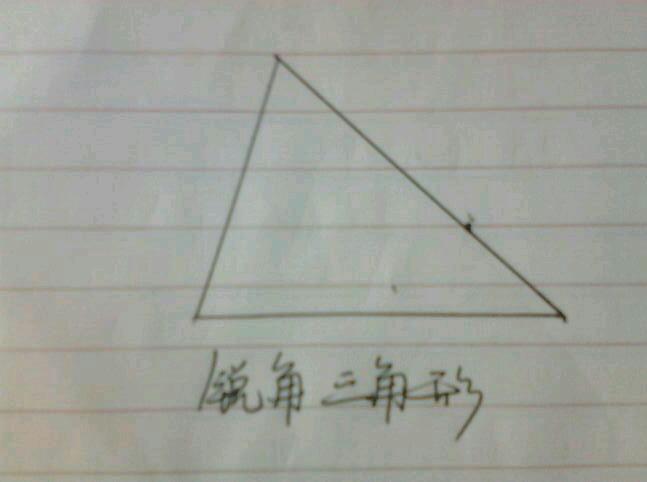画一个锐角三角形图片