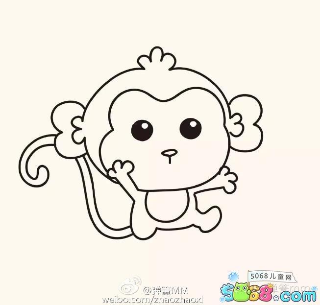 猴子的简笔画