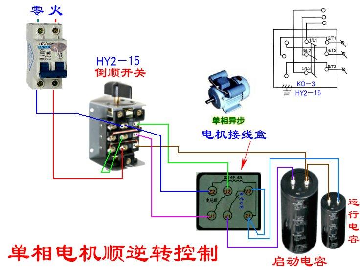 求:hy2-15两相电机接线图,就是工地所用的那种搅拌机上的 越详细越好!