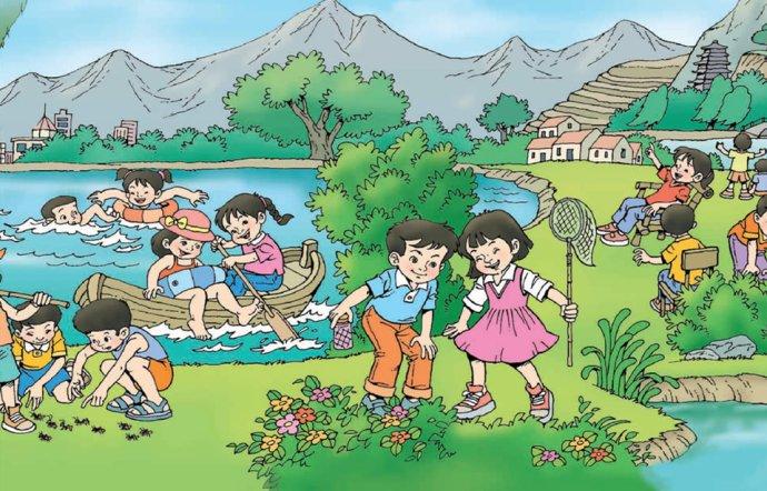 夏天v食物,划船抓食物看图写话三蚂蚁写话蜻蜓运年级图片