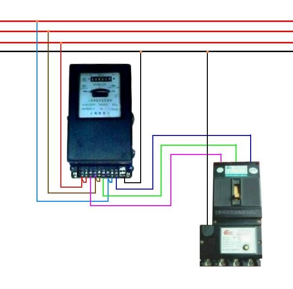 dtzy71型三相四线费控智能电能表接线图