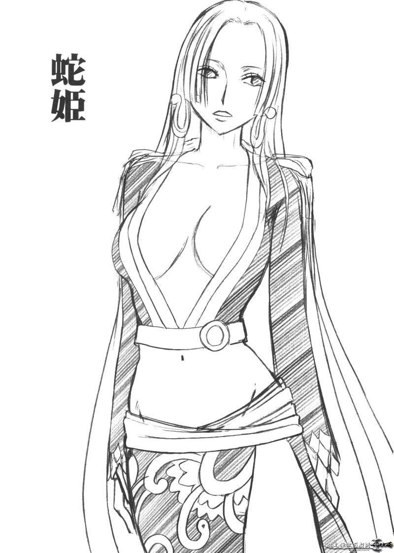 求海贼王女帝汉库克铅笔画