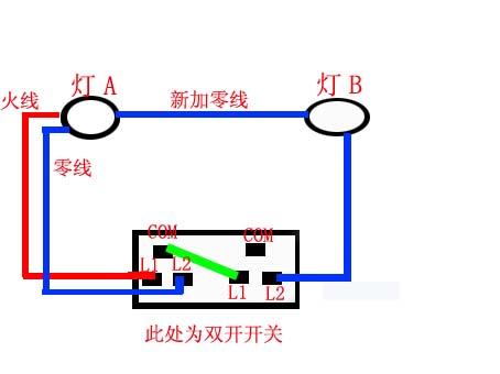 双开开关如何控制两个灯 懂得的朋友看看我接的线对吗