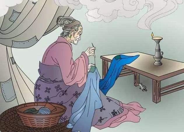 古诗《游子吟》的配画和儿童简笔画图片