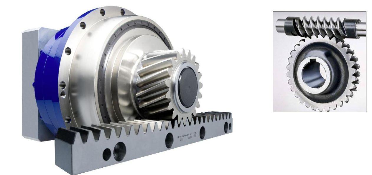 蜗杆涡轮结构同样可以完成旋转到直线的运动,一般用于降速平稳传动