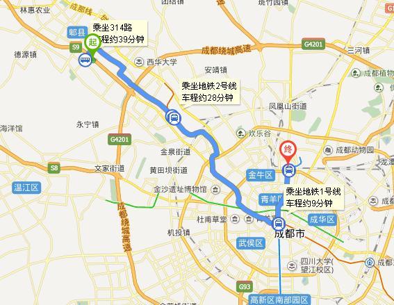 成都富士康坐几路公交车到火车站
