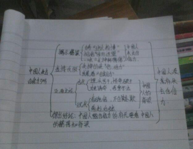 《中国人失掉自信力了吗》的思维导图