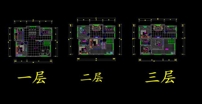 到网上搜一下别墅涉及平面会好些,一定要把一楼和二楼的客厅部分做成图片