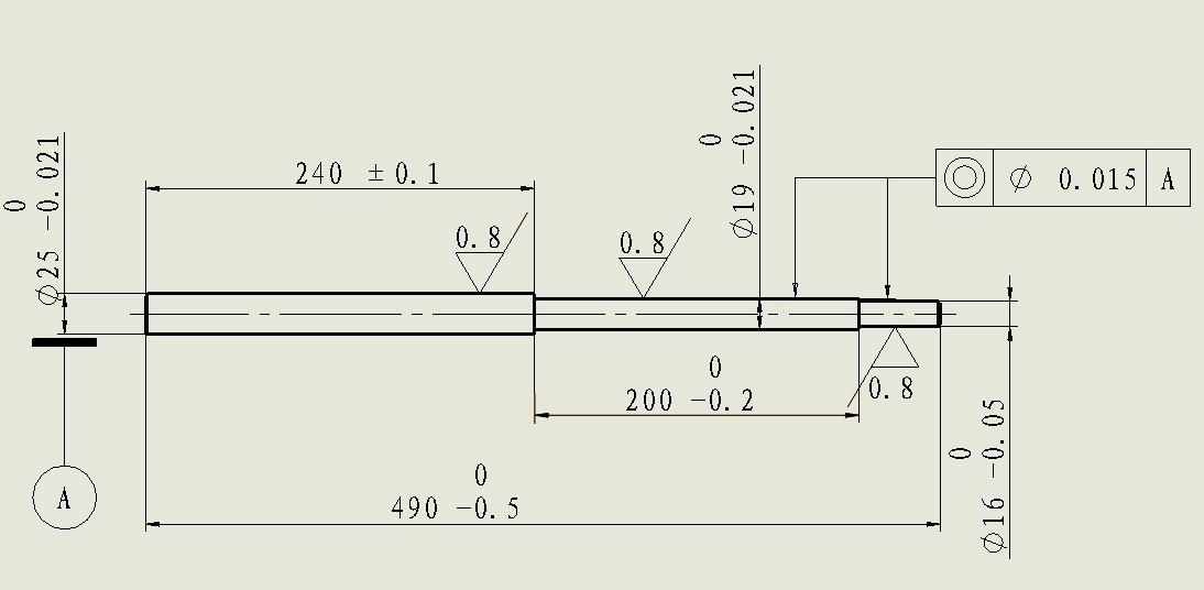 请教数控车床加工长台阶轴,有什么好的方法?