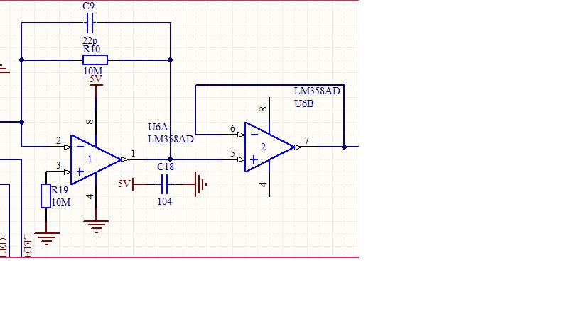 求解释双运放放大器lm358这个电路图