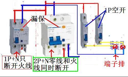 漏电开关接线图