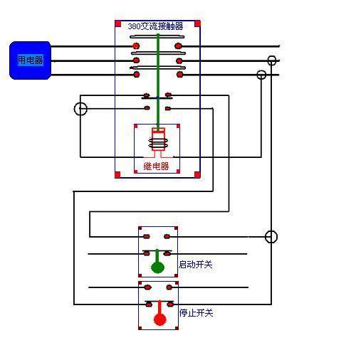 380v接触器接线图