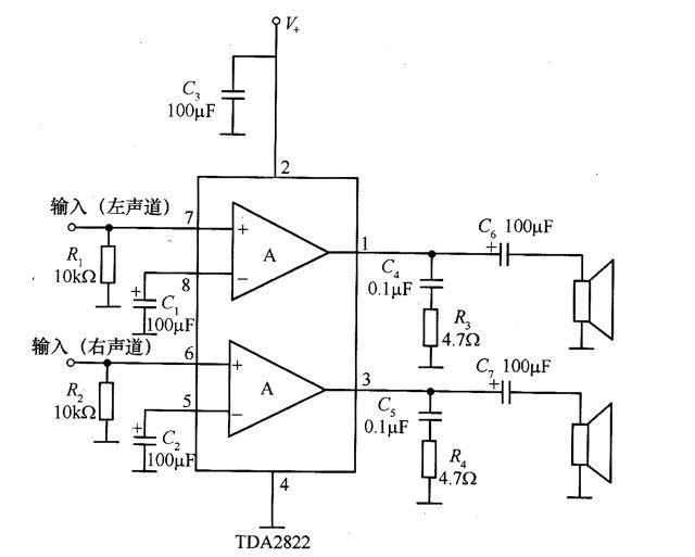 小音箱电路图,越简单越好!就是那种用usb供电,插手机
