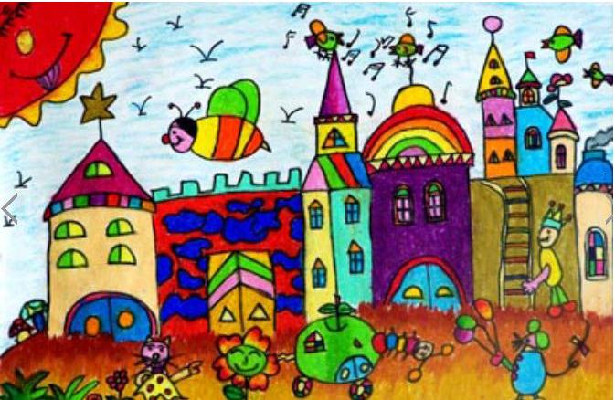 城堡的简笔画带涂色的有吗