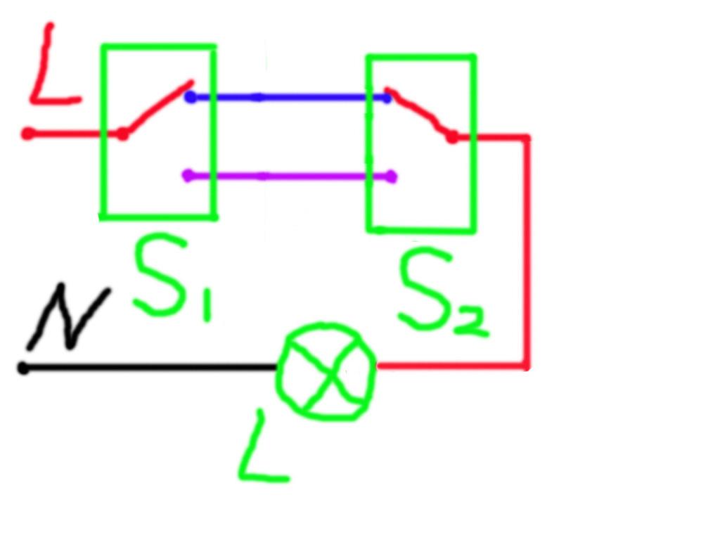 设计一个楼上楼下开关的逻辑电路来控制楼梯上的电灯