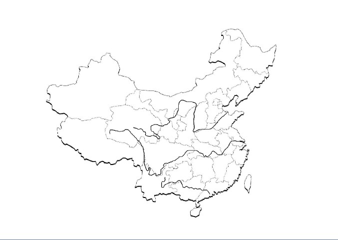 中国地图 地理课填图用的 急!
