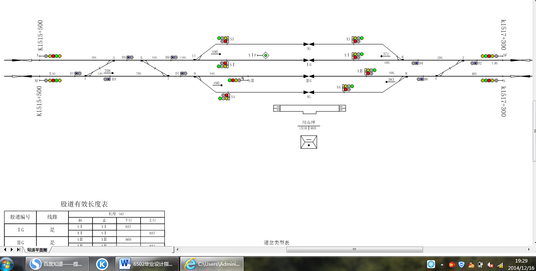 求川山坪站双线轨道电路图布置图