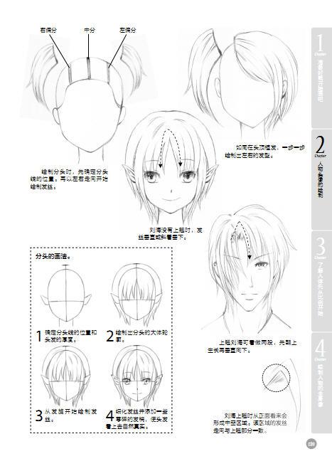 漫画素描人物头发比较难画特别是女生的头发让我一头雾水求指点