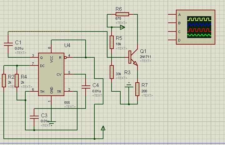 这个555振荡器电路想要示波器观察输出波形该怎么弄啊
