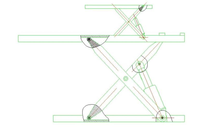 剪叉式液压升降平台属于什么机械结构?如何计算力?图片