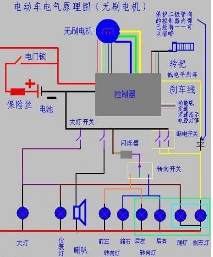 小龟王电动车.电路接线图谁有?谢谢!