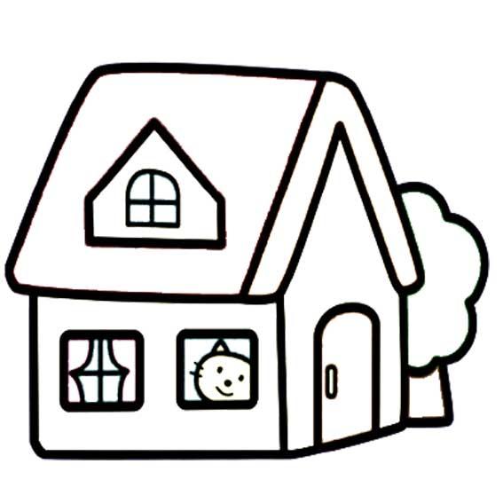 简笔画—三种不同的房子