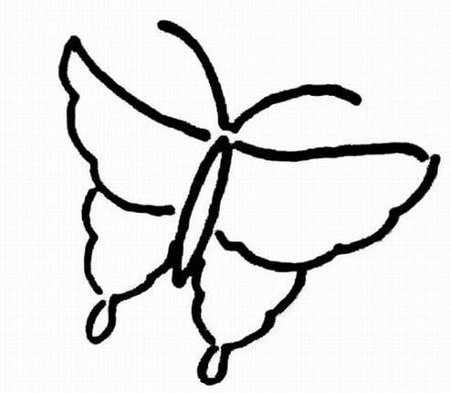 如何教小孩子画蝴蝶