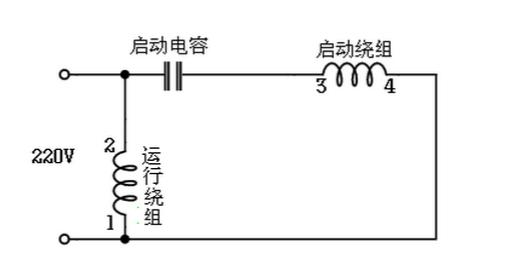 单相电动机正反转怎么接线