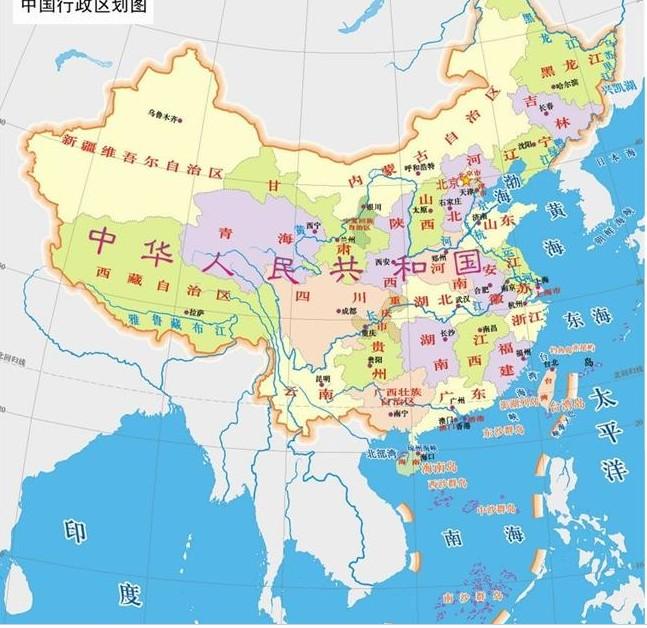 中国的地图上哪些是黄河,哪些是长江