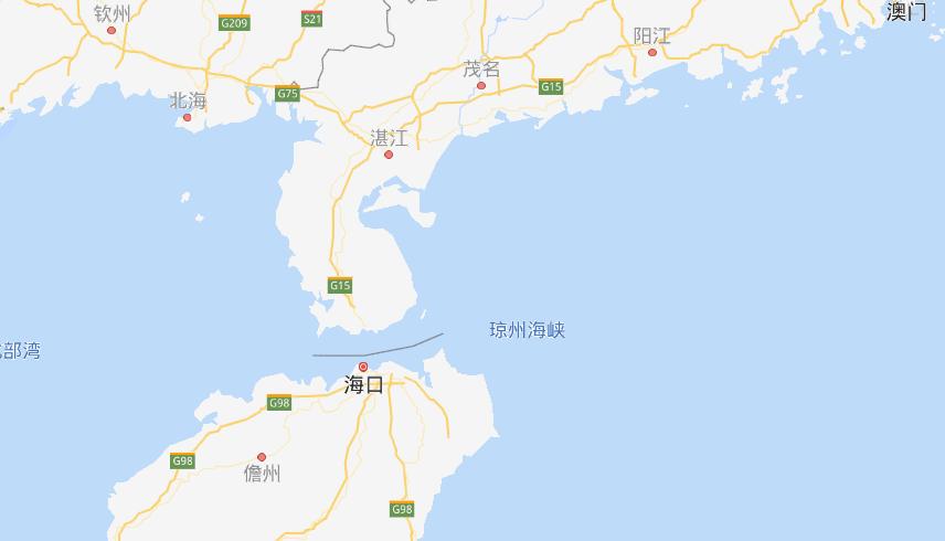 琼州海峡水深多少米