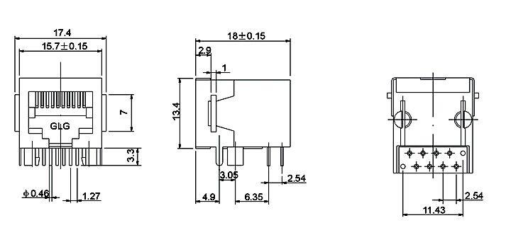 网线插座里电路的原理或者电路图