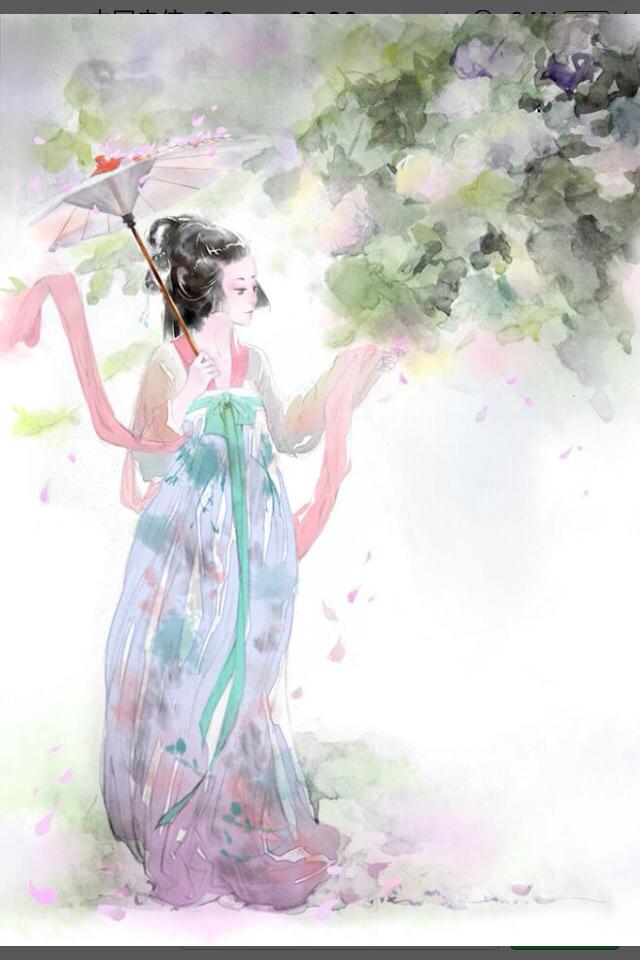 求服装首饰繁琐的古风手绘图片,色彩丰富,高清的,要用来练习绘画,多给