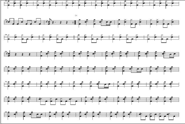 逆战带歌词的架子鼓谱