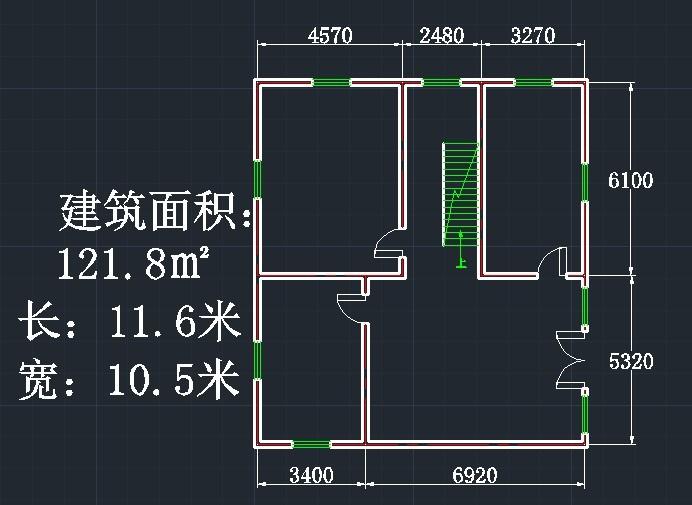 请大神们帮忙改一下农村房屋设计图,一楼的地基如下图图片