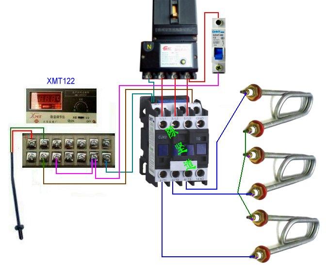xmt122温控仪接线图