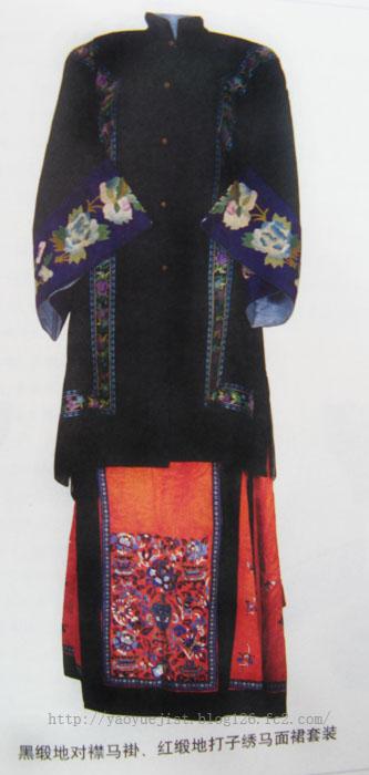 求古代女子的服饰花纹(清朝)和不同图案