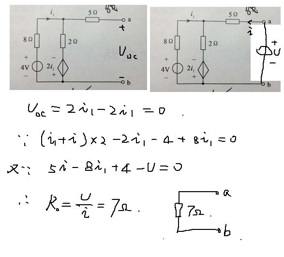 题目求戴维南等效电路,我求出来开路电压为0,,求解  2015-10-18   最