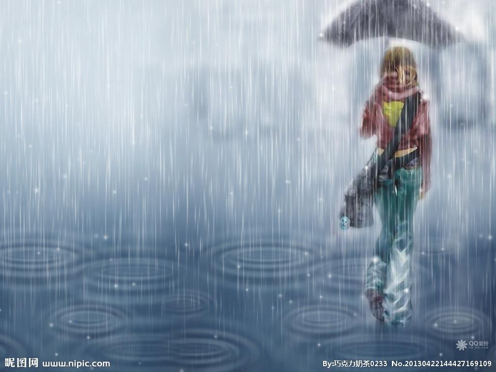 谁能给我在雨中的图片越多越好