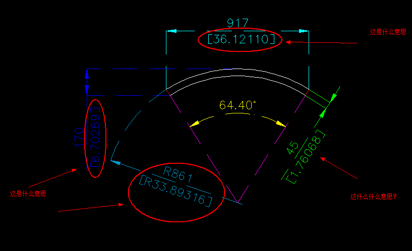 介绍cad简要里面那个尺寸是内容?图中红请问意思图纸数字图片