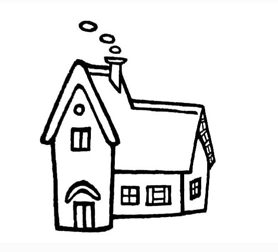 房子的简笔画都有哪些