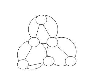 如图有小花大图纸,每个大圆圈上又各有三个圆圈不织布捧手三个图片