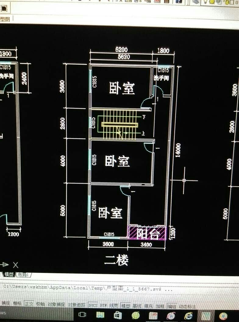 长14米宽7米自建房平面设计图,建三层半需三房一厅带卫生间